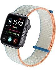 Nylon geweven sporthorlogeband, compatibel met Apple horlogeband 38 mm 40 mm 42 mm 44 mm, verstelbare Velcro gevlochten reservearmband voor iWatch Series 6 5 4 3 2 1 SE