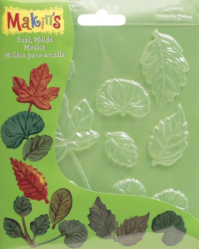 Makin's Clay Push Molds-Leaves 1 pcs sku# 655229MA ()