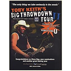 2005 Toby Keith Big Throwdown Tour Clear Channel Photo Promo Print Ad (63833)