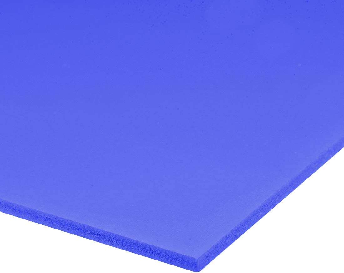 """uxcell PVC Foam Board Sheet,5mm T x 12W x 16/""""L,Blue,Double Sided,Expanded PVC Sheet,for Presentations,Signboards Artsand Crafts,Framing,Display"""