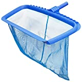 U.S. Pool Supply Professional Heavy Duty Pool Leaf Rake with Deep Net Bag - Fits Standard Swimming Pool Poles