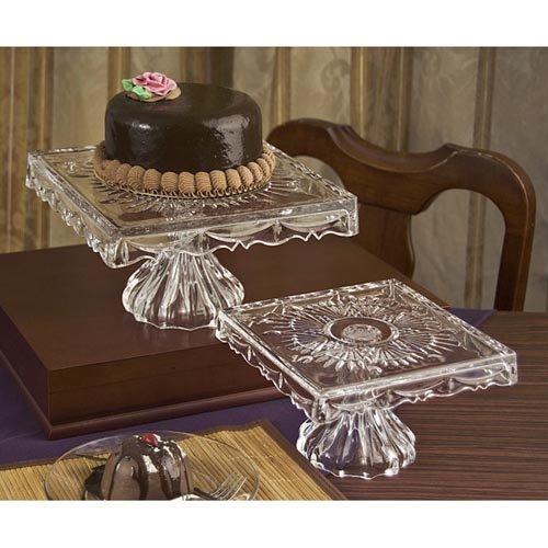 Scalloped Cake Plate (Godinger Freedom Small Footed Cake)