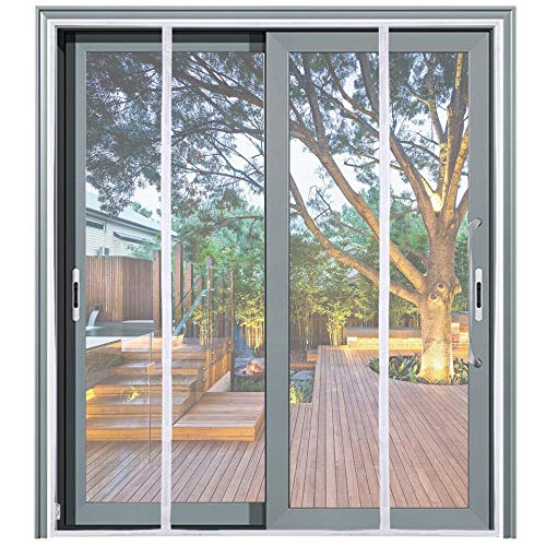 Mag-Connexion Fiberglass Screen Door   Bug & Mosquito, Fire and Rip Proof, Kids & Pets Friendly (74