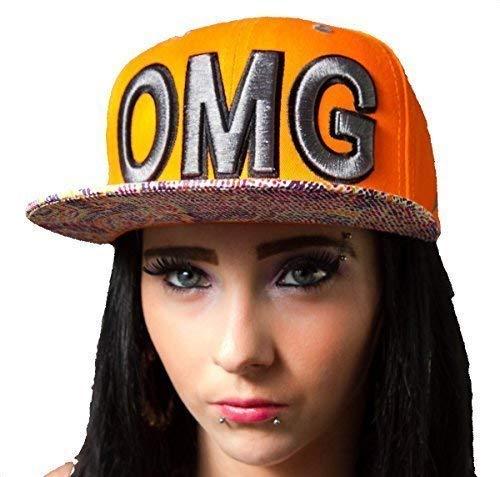 OMG Naranja Gorra Gorras, Sombreros de béisbol Visera Plana. Hip ...