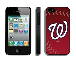 Cheap Iphone 4s Cover MLB Washington Nationals Personalized Athletic Iphone 4 Cellphone Proective Case