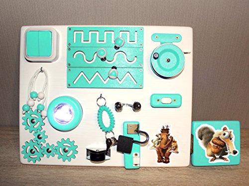 The Ice Age Travel Busy Board - Juguete de actividades educativas para niños pequeños - Juego sensorial Montessori para...