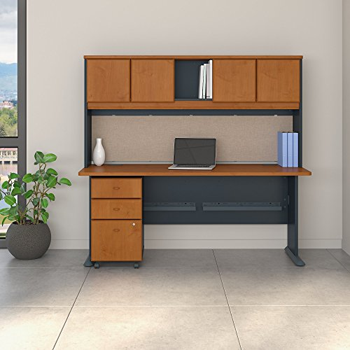 Bush Business Furniture SRA051NCSU Office Suite, Natural Cherry and Slate ()