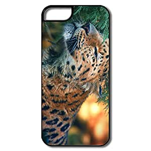 Fashionable Custom Hard Back Cover Cute Amur Leopard Design Your Own Cover For Iphone 5/5s