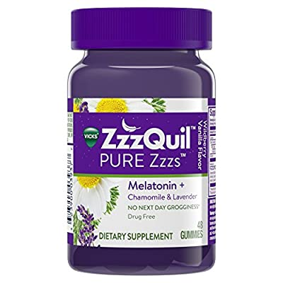 Vicks Zzzquil Pure Zzzs Gummies, Wildberry Vanilla, 60 Count