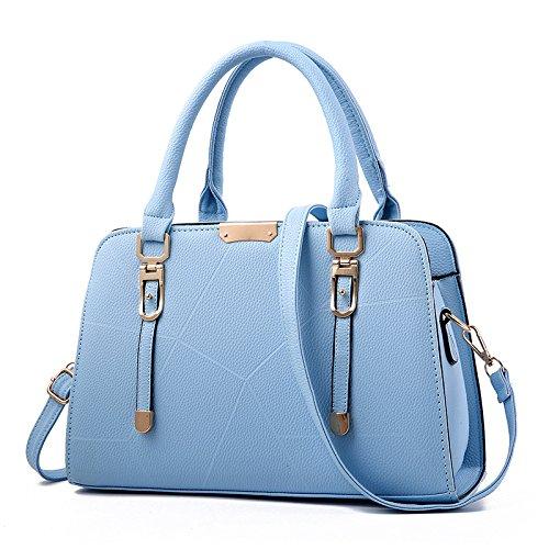 GUANGMING77 Mujer Sola Bolso Bolso Bolso Estampado _,Rojo Rojo Sky blue