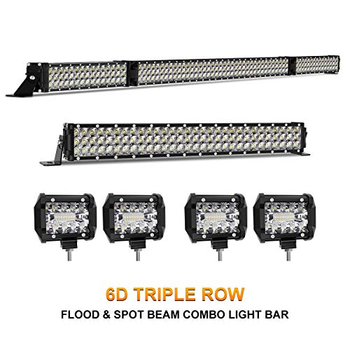 (LED Light Bar Kit, Rigidhorse 820W 82000LM 54 Inch + 32 Inch + 4Pcs 4