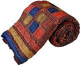 Total Furnishing Jaipuri Hand Block Print Traditional Desgin Double Bed Jaipuri Razai - Quilt Others Multi-Color