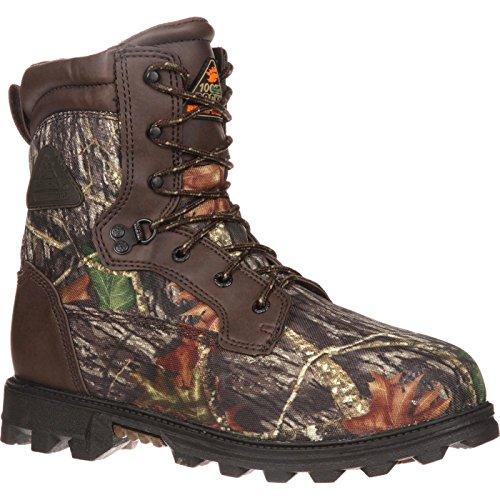 (Rocky Unisex FQ0003627 Mid Calf Boot, Mossy Oak Break up Camouflage, 4 W US Big Kid )