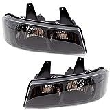 BROCK Driver and Passenger Composite Halogen Headlights Headlamps 03-18 Chevy Express GMC Savana Van 15879433 15879432 GM2502233 GM2503233 1590998 1590997