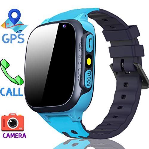 MiKin Children Smart Watches for Girls Boys Age 3-12 Kids Smartwatch Phone with GPS Tracker 2 Way Call SOS Remote Camera Touch Screen Alarm Clock Flashlight Voice Chat Gizmo Wrist Watch Android iOS
