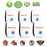 Pest Ultrasonic Repellent 6 Pack Indoor Pest Repeller Plug in Pest Control 2018 Electric Repellers for Mice, Cockroach, Ant, Spider, Mosquito