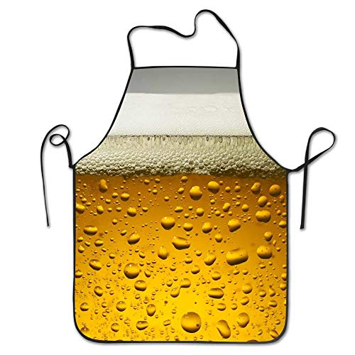 Beer Wallpaper Deluxe Aprons Personalized Printing Kitchen Apron ()