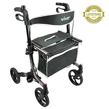 Amazon.com: Andador Rollator por Vive – , plegable con ...
