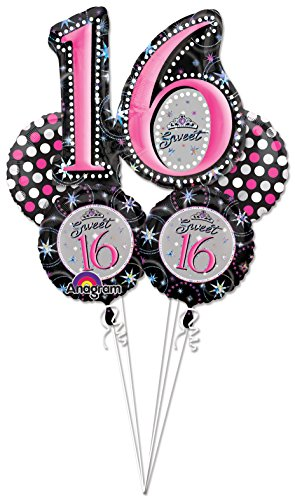 Anagram Sweet 16 Balloon Bouquet -Each