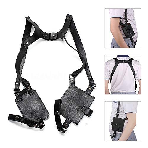 - Anti-Theft Hidden Underarm Strap Wallet Pocket Holster Phone Shoulder Holster Bag Leisure Double Shoulder Pouch