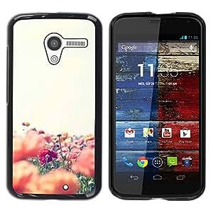 Be Good Phone Accessory // Dura Cáscara cubierta Protectora Caso Carcasa Funda de Protección para Motorola Moto X 1 1st GEN I XT1058 XT1053 XT1052 XT1056 XT1060 XT1055 // Flowers Fi