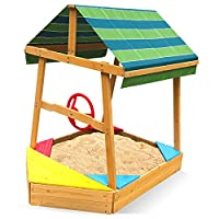 Outward Play Explorer Boat Sandbox with Canopy