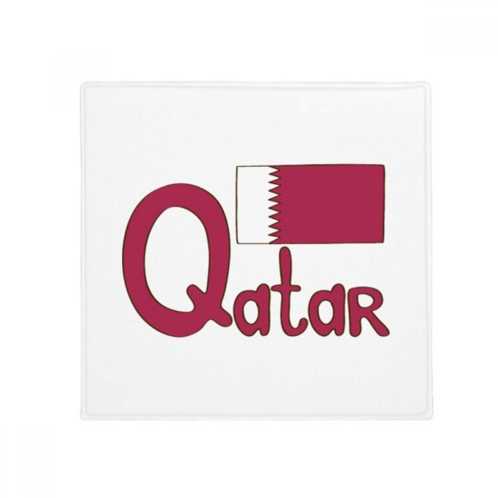 DIYthinker Qatar National Flag Purple Pattern Anti-Slip Floor Pet Mat Square Home Kitchen Door 80Cm Gift