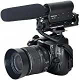 TAKSTAR Microphone stéréo Pro DV micro MIC 3.5mm, compatible avec Canon 5D Mark II, 7D, 550D, 600D Nikon Pentax Olympus Panasonic Sony DSLR vidéo caméra DV