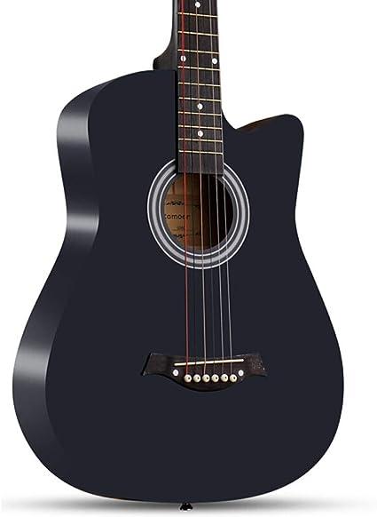 Boll-ATur Guitarra acústica negra -38 pulgadas Guitarra ...