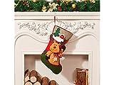 Gelaiken World Christmas Cloth Christmas Socks Candy Bag Gift Bag Christmas Tree Pendant(Elk)