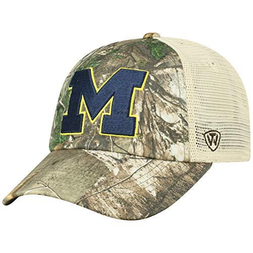 NCAA Michigan Wolverines Men's Camo Stock Adjustable Mesh Icon Hat, Real Tree (Michigan Camo Hat)
