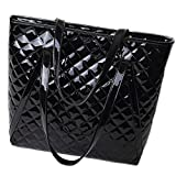 Best Pu Leather Shoulder Bags Satchel Clutch Womens Handbag Tote Purse Messengers - LYT LANX Ling Plaid Patent Leather Fashionable Female Review