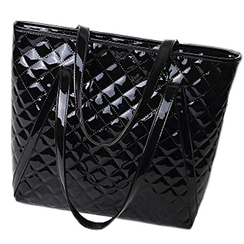 Leather And Patent Leather Tote Bag - 9