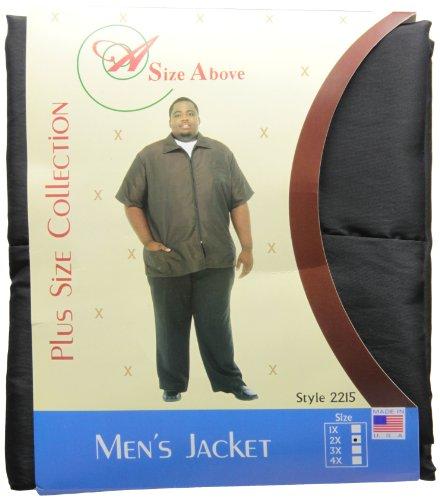 (A Size Above Big & Tall Barber Jacket, Black, 2X)