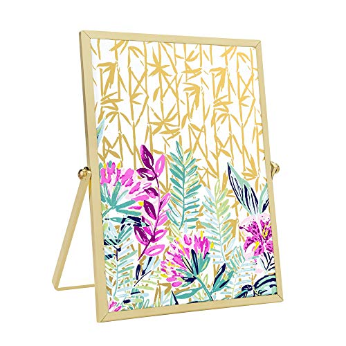 (Lilly Pulitzer Gold Easel Picture Frame)