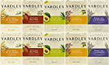 Yardley Naturally Moisturizing Bath Soap, Set of 5 Scents, 4.25 Ounce Bars (Pack of 10 Bars)