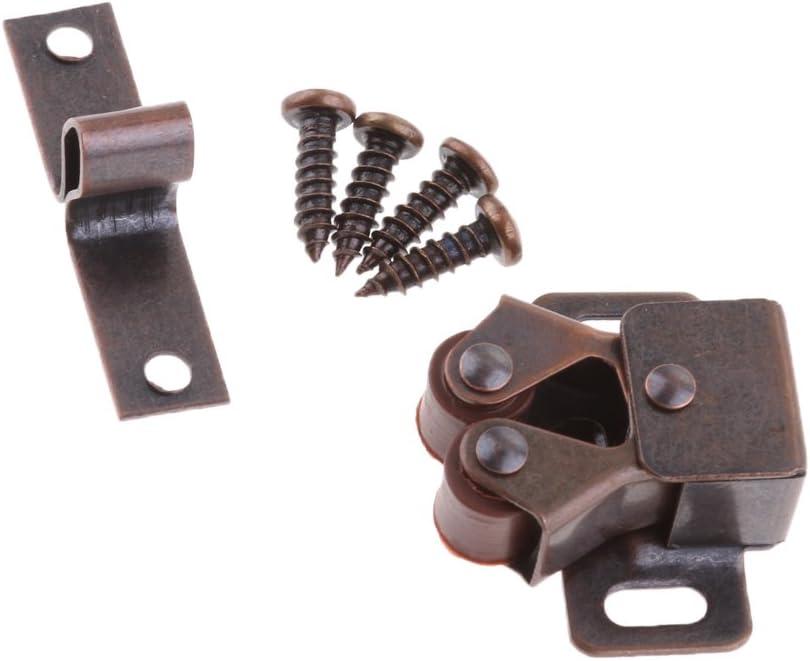 3 Stück Federbelastete Doppelrollen Verschluss Schließtür Für Wohnwagen