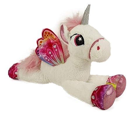 8f31870235 Unicorno 80 cm Grande Peluche Pony Cavallo Bianco per Bambini Ragazzi  Adulti San Valentino