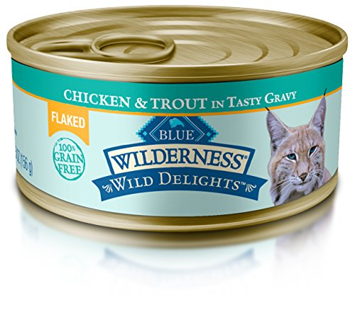 Blue Wilderness Wild Delights Adult Grain Free Flaked Chicken & Trout In Tasty Gravy Wet Cat Food 5.5-Oz (Pack Of ()