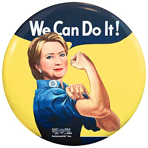 "Buttonsmith Hillary Clinton Rosie the Riveter We Can Do It 12-pack of 2.25"" Buttons"