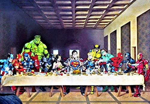Decoración De La Pared Marvel Dc Superhéroes Cartel ...