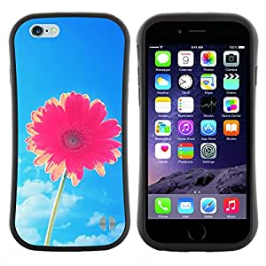 Pulsar iFace Series Tpu silicona Carcasa Funda Case para Apple (4.7 inches!!!) iPhone 6 Plus / 6S Plus ( 5.5 ) , Flor Blue Skies Pink Summer Sun""