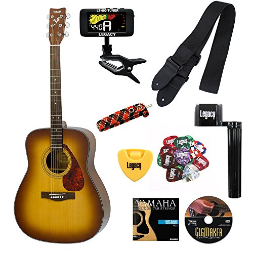 Yamaha F325D Folk Guitar with Legacy Accessory Bundle