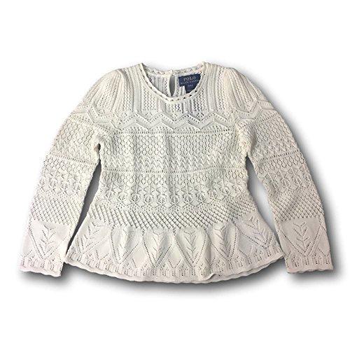 (RALPH LAUREN Polo Girls' Pointelle Sweater (L))