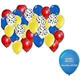 32 pc Set: Paw Party Balloons - Red, Yellow, Blue, Paw Print Patrol