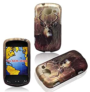 Buck Deer Samsung U380 Brightside Verizon Wireless Case Cover Hard Phone Case Snap-on Cover Rubberized Frosted Matte Surface Hard Shells