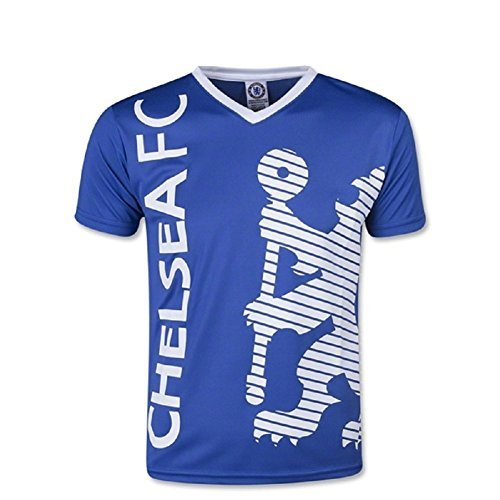 Chelsea FC Youth Soccer Training Jersey-Blue White-Medium 398ab5ad4
