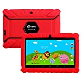 HOLIDAY SPECIAL! Contixo Kids Safe 7'' Quad-Core Tablet 8GB, Bluetooth, Wi-Fi, 20+ Free Games, HD Edition w/ Kids-Place Parental Control, Kid-Proof Case (Red) - Best Gift For Christmas