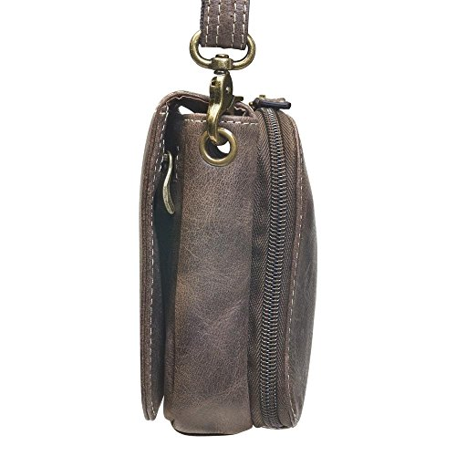Brown Tote'n by Organizer Distressed Mamas Purse Carry Gun Concealed Crossbody wCqffT