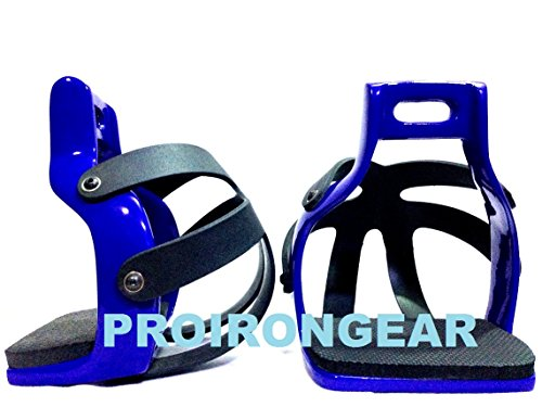 (PRO IRON GEAR Aluminum Endurance Ride Caged Safety Horse Stirrups with L/Key for Remove Caged)